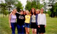 These are me and some of my friends from school. From left to right we are:Jenn D., Yire, Hollyn, Shannon, Diana, Leigh Ann, and me.